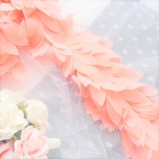 Шифоновые лепестки на ленте Цвет Светло - Персиковые 45см