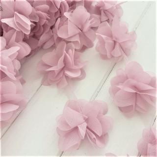 Шифоновые цветочки цвет Пудрово-Лавандовый 5шт