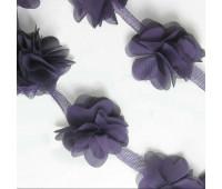 Шифоновые цветочки цвет пыльно-фиолетовый 5шт