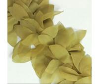 Шифоновые лепестки на ленте цвет Хаки 45см