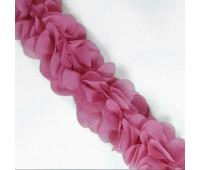Шифоновые лепестки на ленте розовые с округленными лепестками 45см
