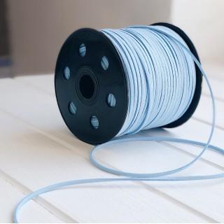 Замшевый шнур 3мм  голубой 1ярд
