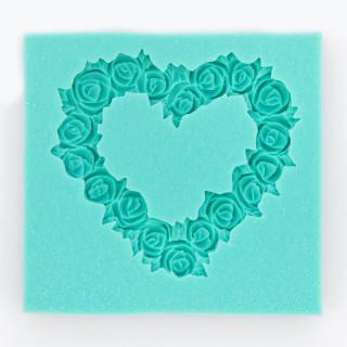 """Молд силиконовый  """"Сердце из цветов"""" диаметр  5х5см  Арт Студия Просвет"""