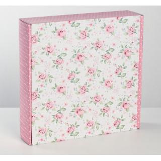 """Коробка для хранения скрап-бумаги  """"Цветы"""""""