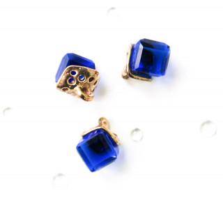 Подвеска Хрустальный Ромб, Цвет - Глубокая синь