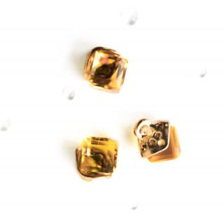 Подвеска Хрустальный Ромб, Цвет - Золотисто-желтый