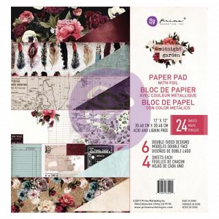 Набор бумаги 30х30 см  Midnight Garden  от Prima Marketing
