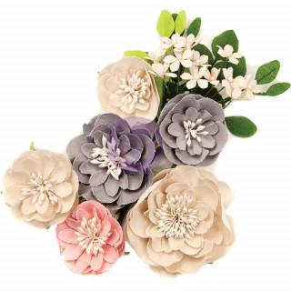 Тканевые Цветы  Spring Farmhouse от Prima Marketing 12 шт.