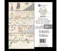 Набор бумаги 15х15 см Spring Farmhouse от Prima Marketing