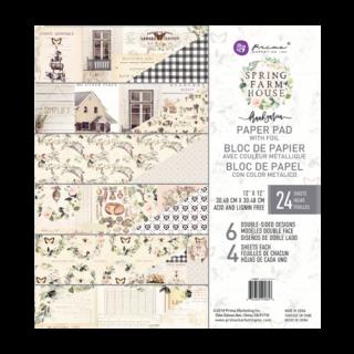 Набор бумаги 30х30 см  Spring Farmhouse от Prima Marketing