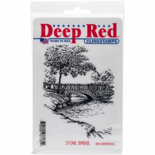 """Высококачественный резиновый штамп """"Stone Bridge"""" Deep Red"""