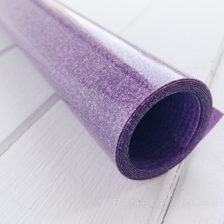 Термотрансферная пленка  глиттерная фиолетовая