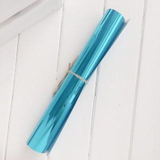 Термотрансферная пленка зеркальная голубая
