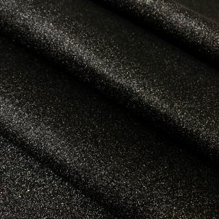 Ткань с мелким глиттером, чёрная с разноцветными ярко-выраженными блёстками 35х45 см.