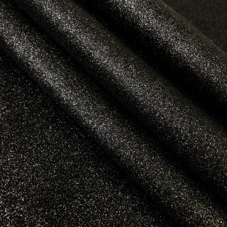 Ткань с мелким глиттером, чёрная с цветными блёстками 35х50 см.