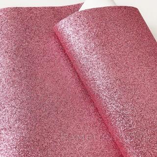 Ткань с глиттером пыльно-розовой  35х50см
