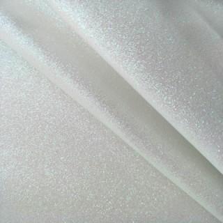 Ткань с глиттером белая 35х50см