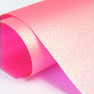 Кожзам Хамелеон Цвет-Розовый  25х50 см.