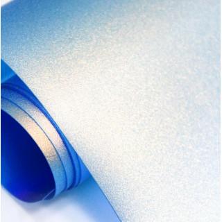 Кожзам Хамелеон Цвет-Перламутровый Голубой с Золотым отливом 25х50 см.