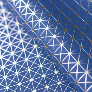"""Кожзам """"Геометрия"""" Золотое тиснение на Синем 35х45 см. Супер тонкий!"""
