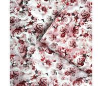"""Кожзам Матовый, мелкий цветочный принт """"Розово-персиковый"""" 35х47см"""
