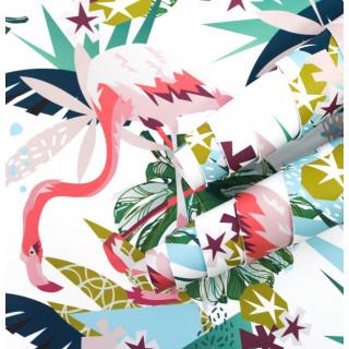 Кожзам Тропический Фламинго  30х67см.