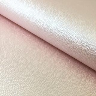 """Перламутровый кожзам с тиснением под кожу """"Нежно-розовый"""" 35х50 см."""