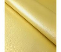 """Перламутровый кожзам с тиснением под кожу """"Лимонный"""" 35х45 см."""