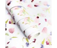 Кожзам Лепестки Роз, цвет- нежно-розовый  33х45см