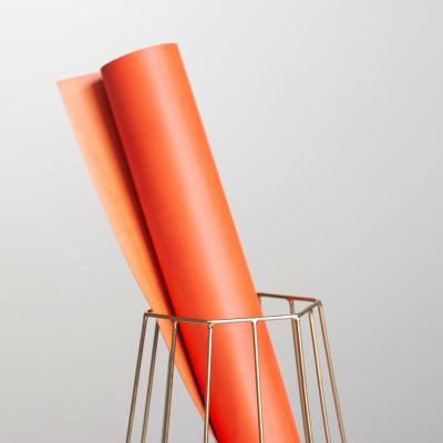 """Переплетный кожзам матовый цвет """"оранжевый"""" 25х70см"""