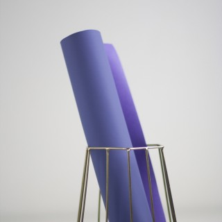 "Переплетный кожзам Soft-touch цвет ""Светло-фиолетовый"" 25х70см"