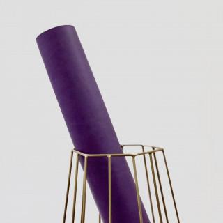 """Переплетный кожзам матовый цвет """"Фиолетовый"""" 25х70см"""