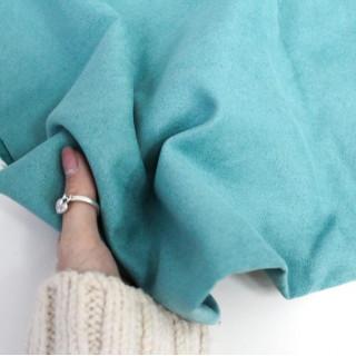 Микро-замша Soft-Touch односторонняя,   Цвет - Бирюзовый 35х50 см.не тянется