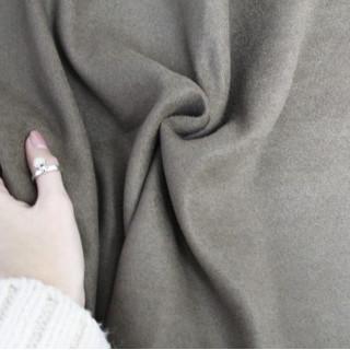 Тонкая Ткань под замшу, Цвет - Коричневый 35х50 см