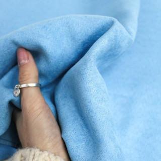 Имитация под замшу односторонняя,   Цвет -Ярко-Голубой 35х50 см.не тянется
