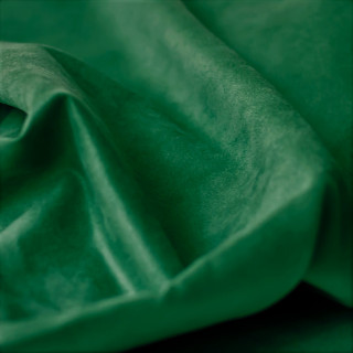 Односторонняя замша. Не тянется! Цвет - Глубокий Зелёный 35х50 см.