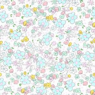 Ткань весенние цветочки россыпью на белом 40х55см.