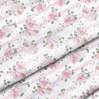"""Ткань Польский премиум хлопок """"Розы и пионы"""" 25х80 см."""