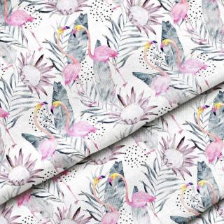 "Ткань Польский премиум хлопок ""Фламинго"" 25х80 см."