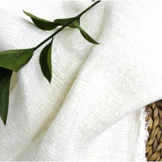 Ткань Мешковина, Цвет - Белый 35 х 50см.