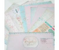 """Набор бумаги """"Очарование"""" от Рукоделия 30х30 см. 12 листов+1 лист для вырезания"""