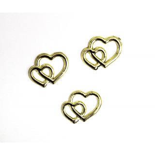 Набор золотых сердечек из 3  шт