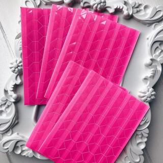 Уголки для фото цвет Неоновый розовый