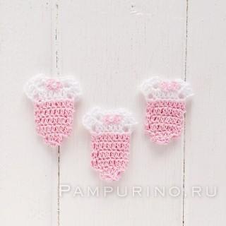 Бодик вязанный розовый
